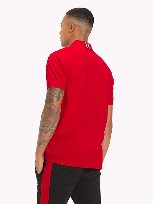 TOMMY HILFIGER Lewis Hamilton Logo Polo Shirt - BARBADOS CHERRY - TOMMY HILFIGER TOMMY NOW MEN - detail image 1