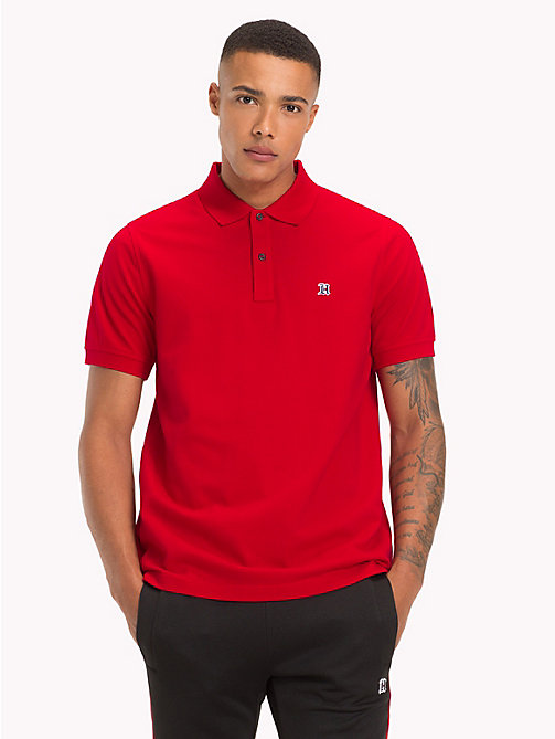 TOMMY HILFIGER Lewis Hamilton Logo Polo Shirt - BARBADOS CHERRY - TOMMY HILFIGER TOMMY NOW MEN - main image