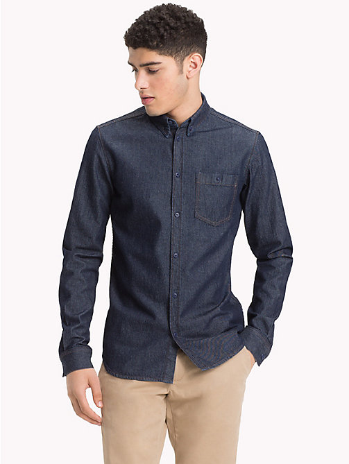 TOMMY HILFIGER Pure Cotton Denim Shirt - OMAHA INDIGO - TOMMY HILFIGER NEW IN - detail image 1