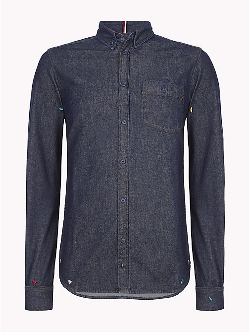 TOMMY HILFIGER Pure Cotton Denim Shirt - OMAHA INDIGO - TOMMY HILFIGER NEW IN - main image