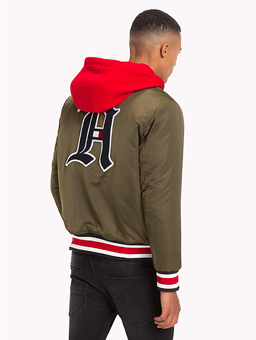 TOMMY HILFIGER Lewis Hamilton Hooded Bomber Jacket - OLIVE NIGHT - TOMMY HILFIGER Clothing - detail image 1