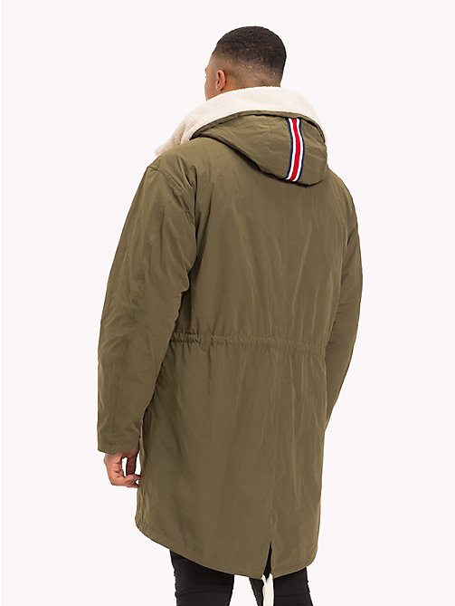 TOMMY HILFIGER Lewis Hamilton Parka Coat - OLIVE NIGHT - TOMMY HILFIGER TOMMY NOW MEN - detail image 1