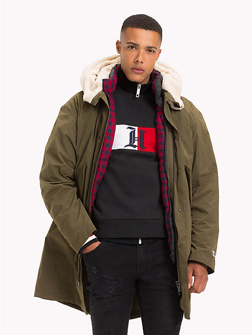 TOMMY HILFIGER Lewis Hamilton Parka Coat - OLIVE NIGHT - TOMMY HILFIGER TOMMY NOW MEN - main image