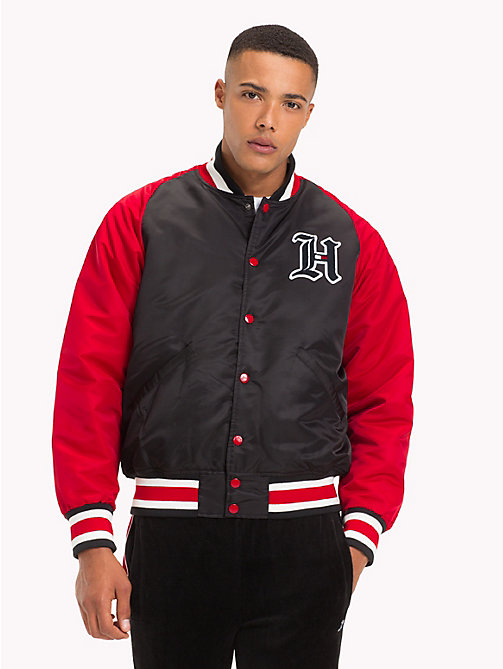 TOMMY HILFIGER Lewis Hamilton Varsity Jacket - JET BLACK -  TOMMY NOW MEN - main image