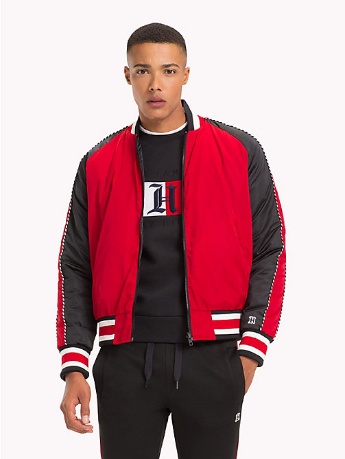 TOMMY HILFIGER Lewis Hamilton Reversible Bomber Jacket - BARBADOS CHERRY - TOMMY HILFIGER TOMMY NOW MEN - main image