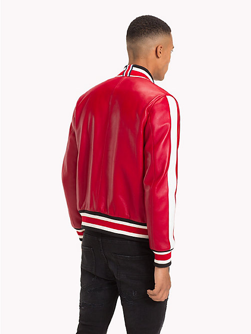 TOMMY HILFIGER Lewis Hamilton Football Jacket - BARBADOS CHERRY - TOMMY HILFIGER TOMMY NOW MEN - detail image 1