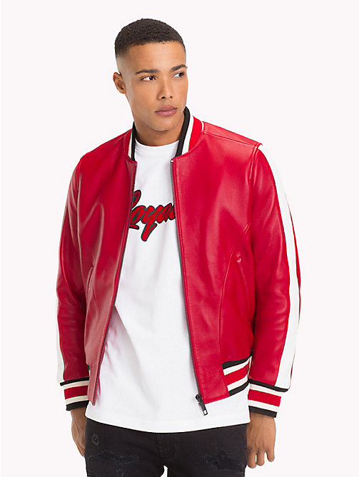 TOMMY HILFIGER Lewis Hamilton Football Jacket - BARBADOS CHERRY - TOMMY HILFIGER TOMMY NOW MEN - main image