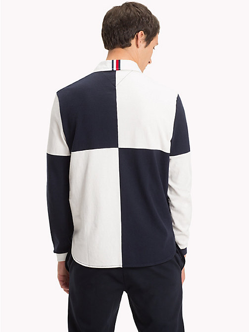 TOMMY HILFIGER Rugby-Shirt in Blockfarben - SKY CAPTAIN / WHISPER WHITE - TOMMY HILFIGER Rugbyshirts - main image 1