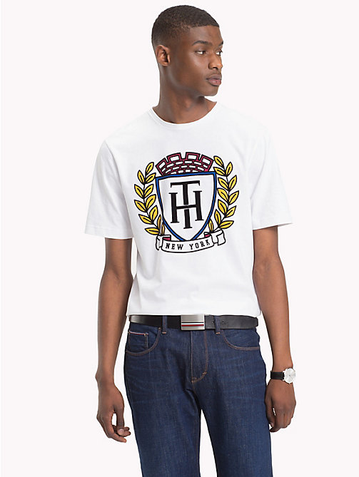 TOMMY HILFIGER Tommy Hilfiger Crest T-Shirt - BRIGHT WHITE - TOMMY HILFIGER NEW IN - main image