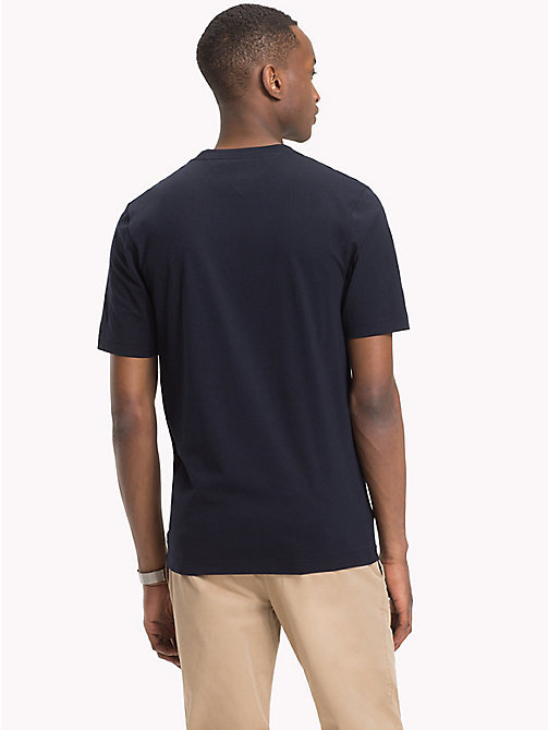 TOMMY HILFIGER Baumwoll-T-Shirt mit Blocktext-Logo - 413-SKY CAPTAIN - TOMMY HILFIGER NEW IN - main image 1