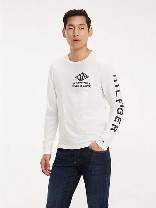 TOMMY HILFIGER NYC Long Sleeve T-Shirt - SNOW WHITE - TOMMY HILFIGER T-Shirts - main image