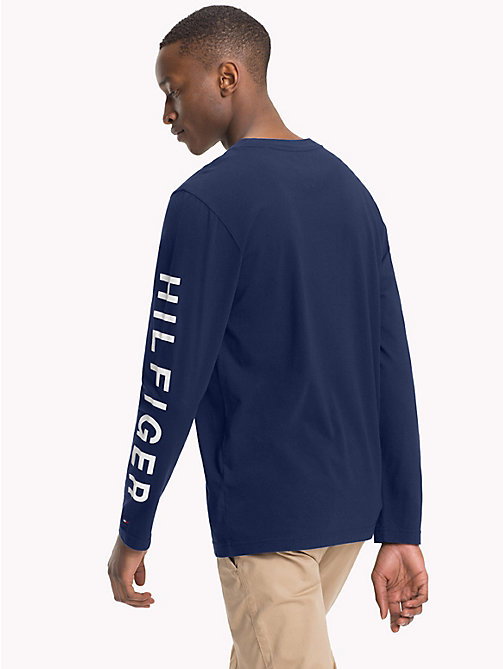 TOMMY HILFIGER Langärmliges T-Shirt mit NYC-Print - BLUE DEPTHS - TOMMY HILFIGER NEW IN - main image 1
