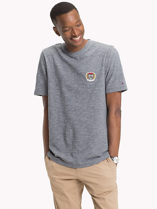 TOMMY HILFIGER Crest Badge T-Shirt - 413-SKY CAPTAIN - TOMMY HILFIGER T-Shirts - main image