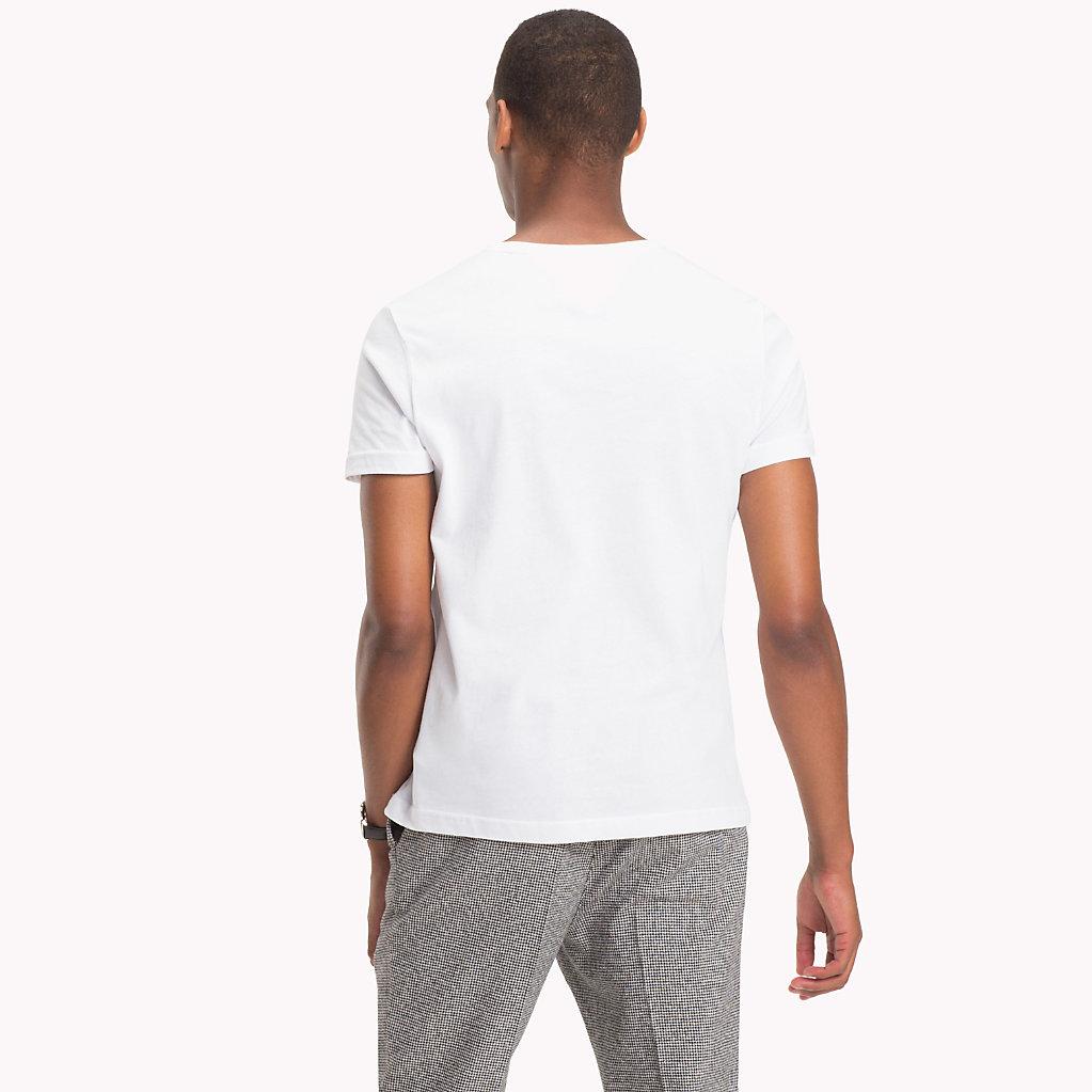 Tommy Hilfiger - Camiseta de algodón con logo rectangular - 2