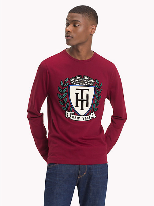 TOMMY HILFIGER Tommy Hilfiger Crest T-Shirt - RHUBARB - TOMMY HILFIGER NEW IN - main image