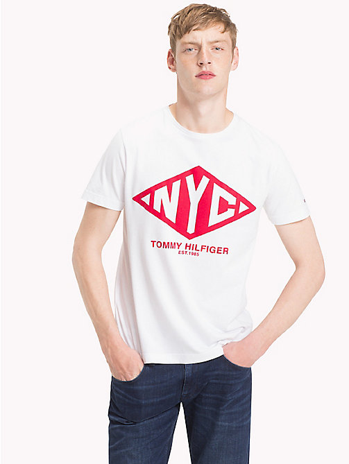 TOMMY HILFIGER NYC Logo Organic Cotton T-Shirt - BRIGHT WHITE - TOMMY HILFIGER T-Shirts & Polos - main image