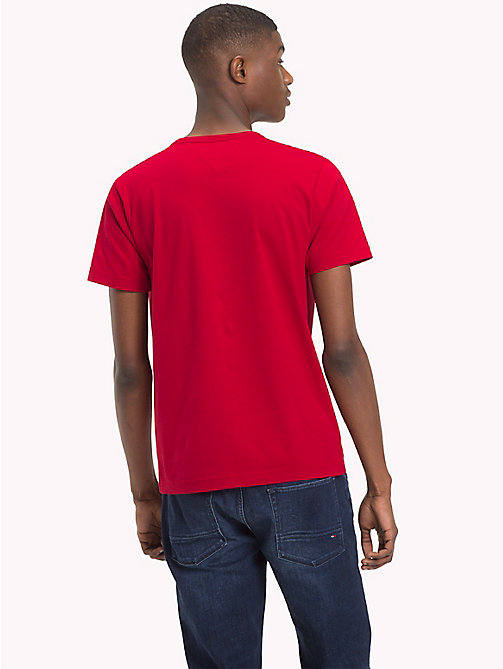 TOMMY HILFIGER Logo Crew Neck T-Shirt - HAUTE RED - TOMMY HILFIGER T-Shirts - detail image 1