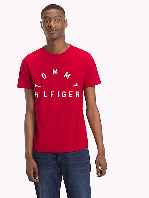 TOMMY HILFIGER Logo Crew Neck T-Shirt - HAUTE RED - TOMMY HILFIGER T-Shirts - main image