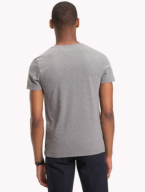 TOMMY HILFIGER College Logo Organic T-Shirt - SILVER FOG HTR - TOMMY HILFIGER T-Shirts & Polos - detail image 1