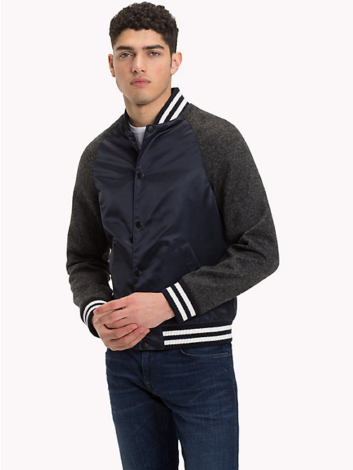 TOMMY HILFIGER Baseball Bomber Jacket - SKY CAPTAIN - TOMMY HILFIGER Clothing - main image