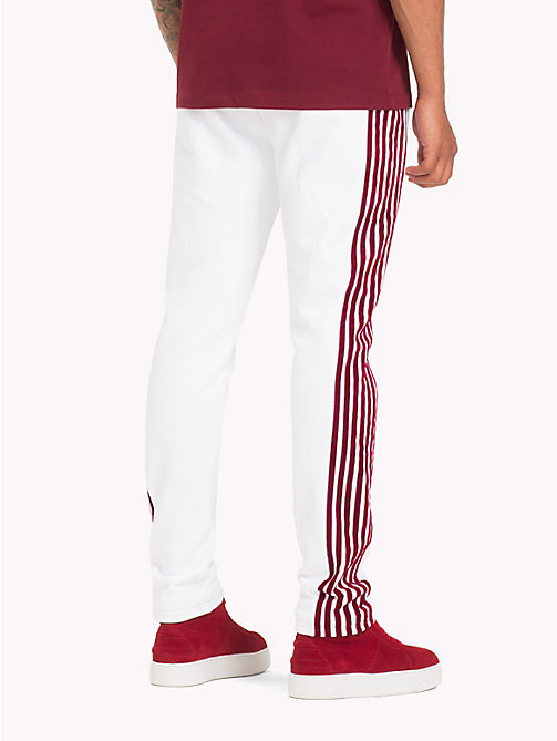 TOMMY HILFIGER Lewis Hamilton Striped Tracksuit Bottoms - BRIGHT WHITE - TOMMY HILFIGER TOMMY NOW MEN - detail image 1