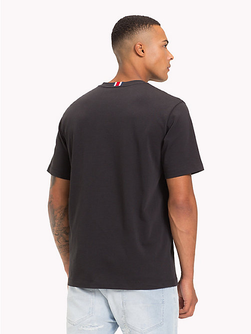 TOMMY HILFIGER T-shirt oversize con logo Lewis Hamilton - JET BLACK - TOMMY HILFIGER TOMMYXLEWIS - dettaglio immagine 1