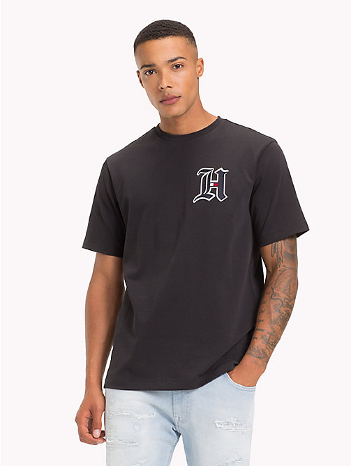 TOMMY HILFIGER T-shirt oversize con logo Lewis Hamilton - JET BLACK - TOMMY HILFIGER TOMMYXLEWIS - immagine principale