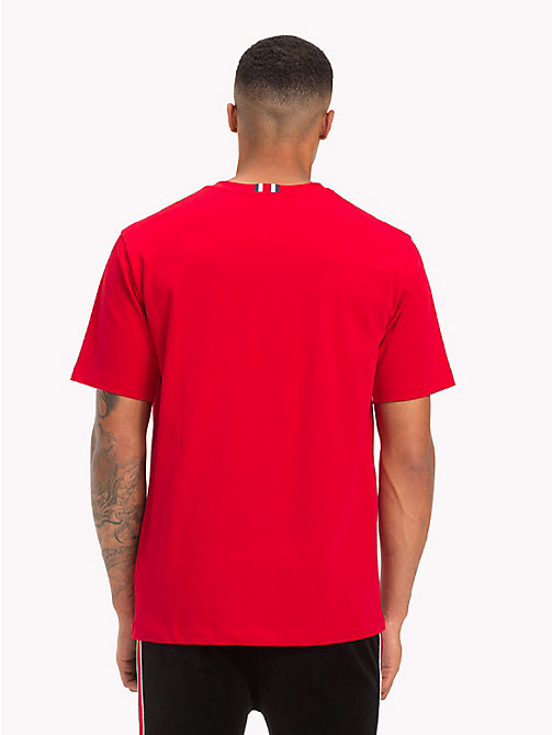 TOMMY HILFIGER Oversized Lewis Hamilton Logo T-Shirt - BARBADOS CHERRY - TOMMY HILFIGER TOMMYXLEWIS - detail image 1