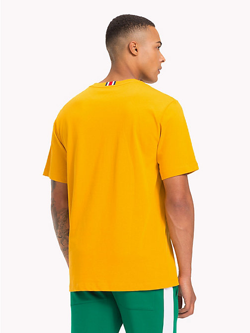 TOMMY HILFIGER Lewis Hamilton Flag T-Shirt - GOLDEN YELLOW - TOMMY HILFIGER TOMMY NOW MEN - detail image 1