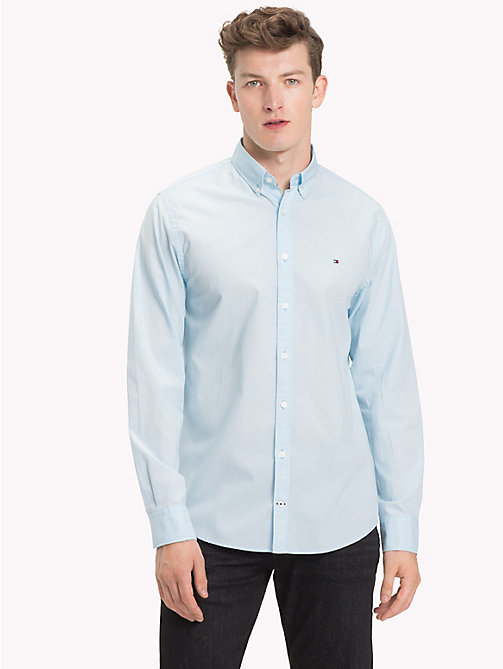 TOMMY HILFIGER Cotton Poplin Shirt - COOL BLUE - TOMMY HILFIGER Casual Shirts - detail image 1