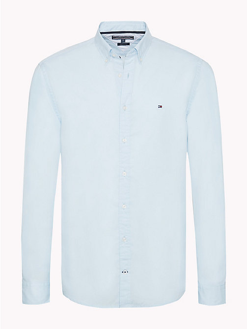 TOMMY HILFIGER Cotton Poplin Shirt - COOL BLUE - TOMMY HILFIGER Casual Shirts - main image