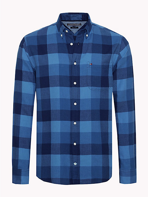 TOMMY HILFIGER Checked Cotton Shirt - MEDIEVAL BLUE / MULTI - TOMMY HILFIGER NEW IN - main image