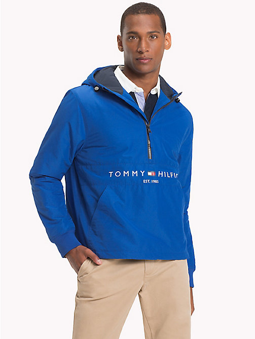 TOMMY HILFIGER Padded Logo Anorak - BLUE LOLITE - TOMMY HILFIGER Padded Jackets - main image