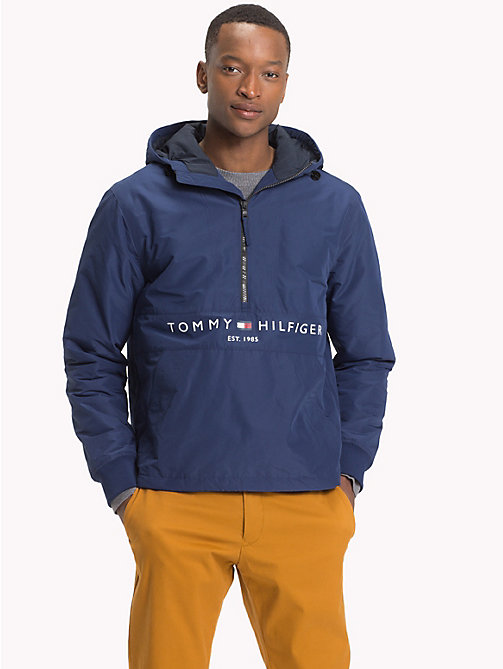 TOMMY HILFIGER Ocieplany anorak z logo - MEDIEVAL BLUE - TOMMY HILFIGER Kurtki Puchowe - main image