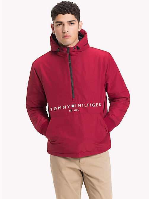 TOMMY HILFIGER Padded Logo Anorak - RHUBARB - TOMMY HILFIGER Padded Jackets - main image