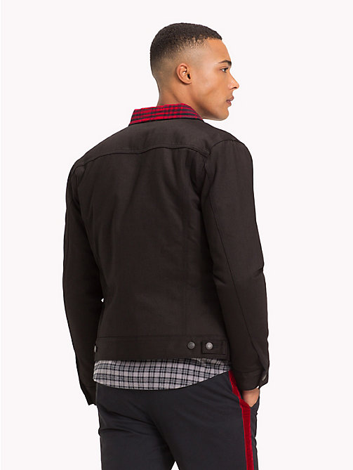 TOMMY HILFIGER Lewis Hamilton Check Collar Denim Jacket - BLACK / CHECK - TOMMY HILFIGER TOMMYXLEWIS - detail image 1