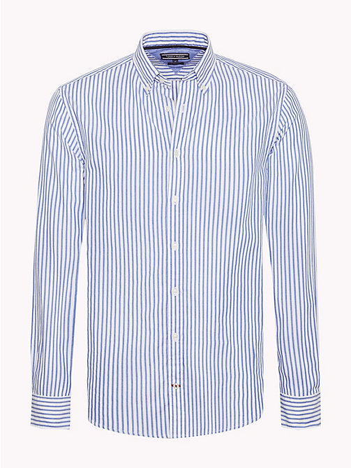 TOMMY HILFIGER Spread Collar Stripe Shirt - BLUE LOLITE / BRIGHT WHITE - TOMMY HILFIGER Casual Shirts - main image