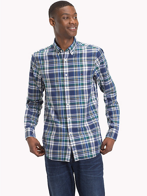 TOMMY HILFIGER Multi-Colour Check Slim Fit Shirt - MEDIEVAL BLUE / MULTI - TOMMY HILFIGER Casual Shirts - detail image 1