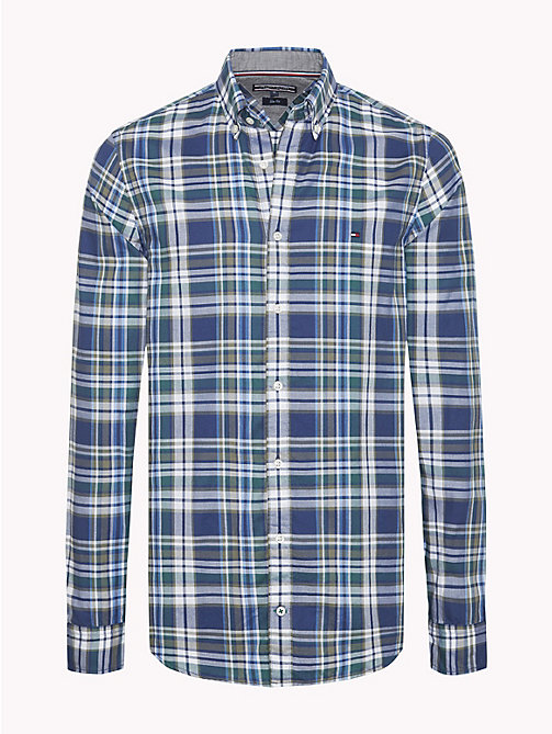 TOMMY HILFIGER Multi-Colour Check Slim Fit Shirt - MEDIEVAL BLUE / MULTI - TOMMY HILFIGER Casual Shirts - main image