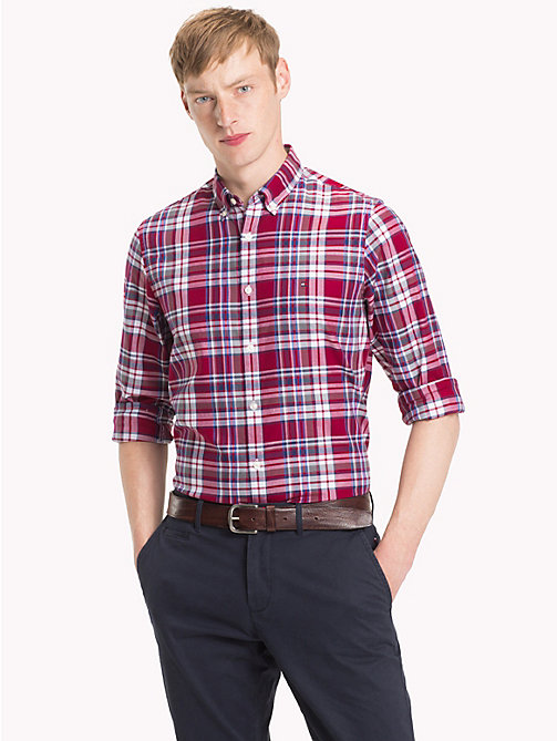 TOMMY HILFIGER Multi-Colour Check Slim Fit Shirt - RHUBARB / MULTI - TOMMY HILFIGER Trending - detail image 1