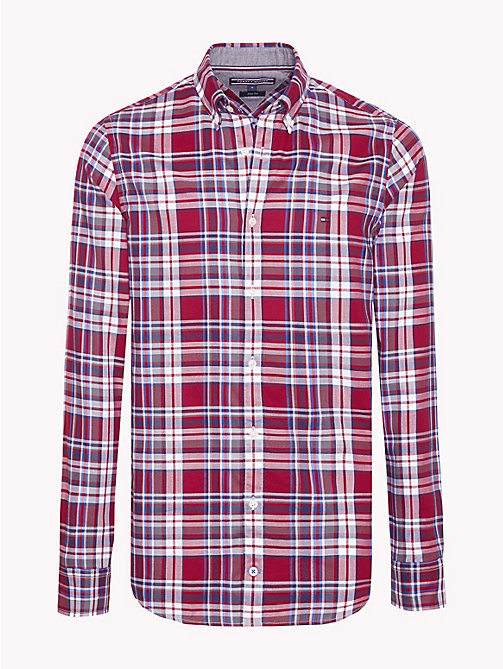 TOMMY HILFIGER Multi-Colour Check Slim Fit Shirt - RHUBARB / MULTI - TOMMY HILFIGER Trending - main image