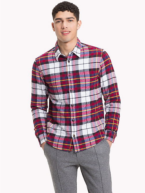 TOMMY HILFIGER Padded Plaid Check Overshirt - RHUBARB / MEDIEVAL BLUE / MULTI -  NEW IN - detail image 1
