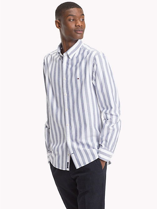 TOMMY HILFIGER Stripe Cotton Shirt - MARITIME BLUE / BRIGHT WHITE - TOMMY HILFIGER NEW IN - detail image 1