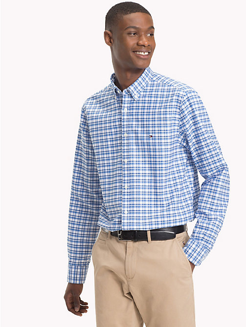 TOMMY HILFIGER All-Over Check Print Shirt - SHIRT BLUE / BRIGHT WHITE - TOMMY HILFIGER NEW IN - detail image 1