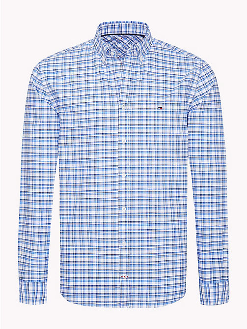 TOMMY HILFIGER All-Over Check Print Shirt - SHIRT BLUE / BRIGHT WHITE - TOMMY HILFIGER NEW IN - main image