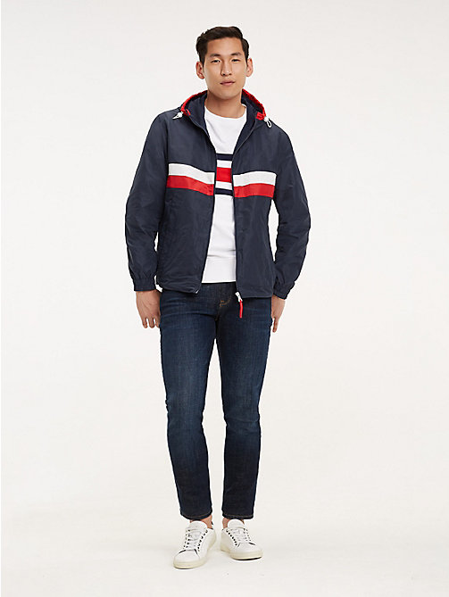 TOMMY HILFIGER Colour-blocked jack met rits - SKY CAPTAIN - TOMMY HILFIGER Kleding - detail image 1