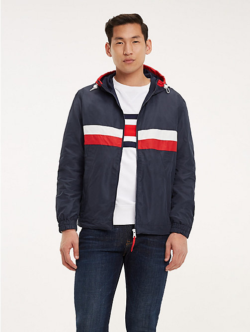 TOMMY HILFIGER Colour-Blocked Zip-Thru Jacket - SKY CAPTAIN - TOMMY HILFIGER Jackets - main image