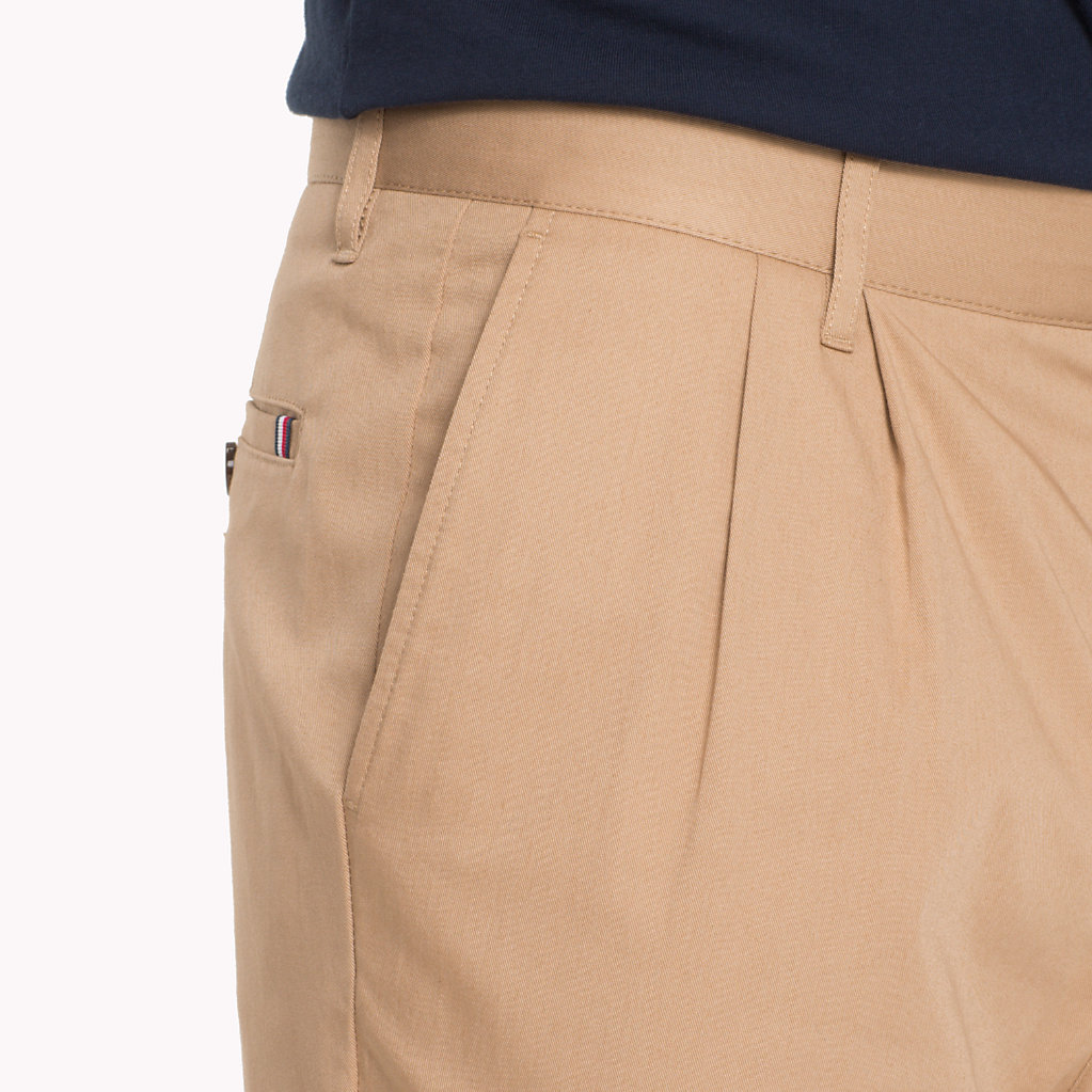 cb3971539 Cropped Tapered Twill Trousers | Tommy Hilfiger | Official Website