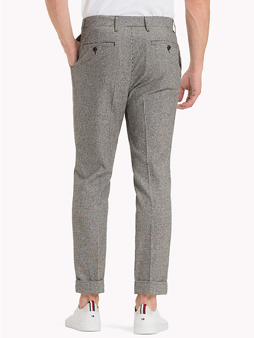 TOMMY HILFIGER Check Cropped Fit Trousers - JET BLACK - TOMMY HILFIGER Chinos - detail image 1