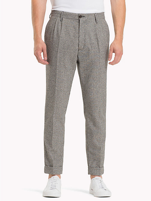 TOMMY HILFIGER Check Cropped Fit Trousers - JET BLACK - TOMMY HILFIGER Trending - main image